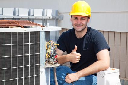 HVAC Repairman Thumbsup